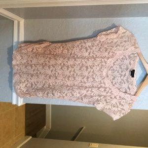 Victoria's Secret pink lace top size large